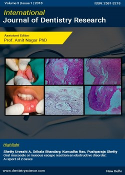 International Journal of Dentistry Research