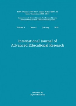 International Journal of Advanced Educational Research