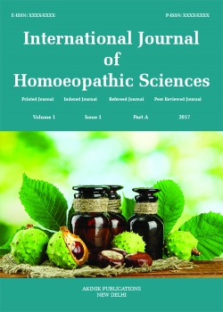 International Journal of Homoeopathic Sciences